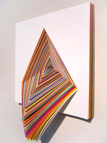 Cool Construction Paper Kaleidoscope Art