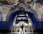 Stockholms tunnelbana - Colorful stations of metro
