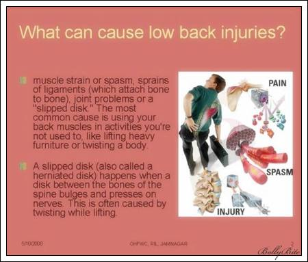 What can cause low back injuries