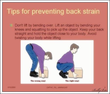 tips for preventing back strain