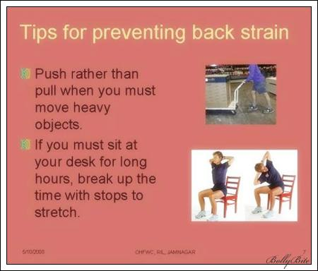tips for preventing back strain 1