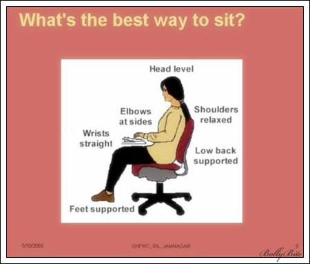 what's the best way to sit?