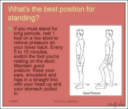 what's the best position for standing?