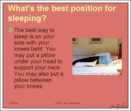 what's the best position for sleeping?
