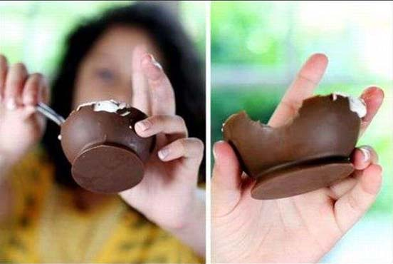 Make Chocolate Ice-cream Cups Using Balloons 07