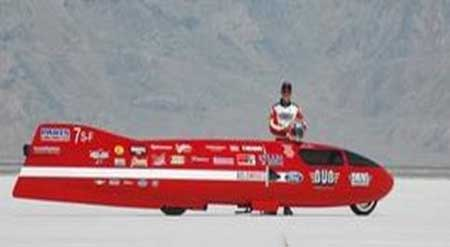 Fastest  Motorcycle - The BUB #7 Streamliner
