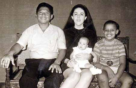 Barack Obama with his Family