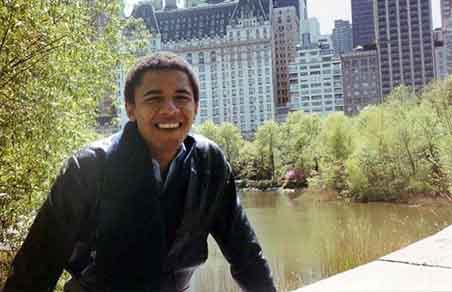 Barack Obama in Columbia University, New York
