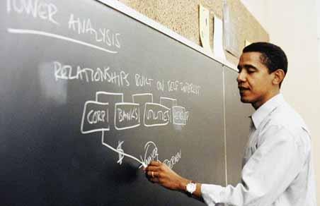 Barack Obama in University of Chicago Law School