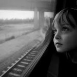 Train window child