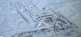 Denver International Airport before & after snowstorm
