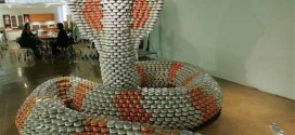 Structures built with cans