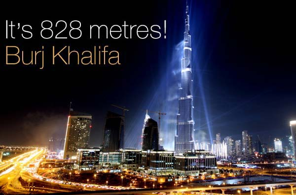 Burj Khalifa 828 metres
