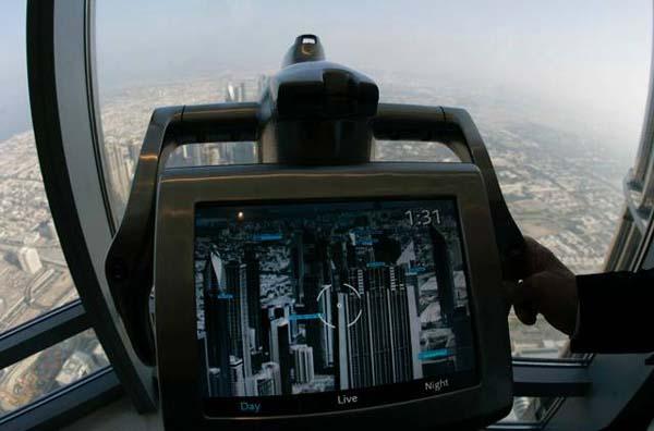 burj khalifa top floor camera