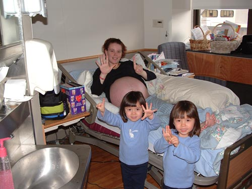 kate with her twins
