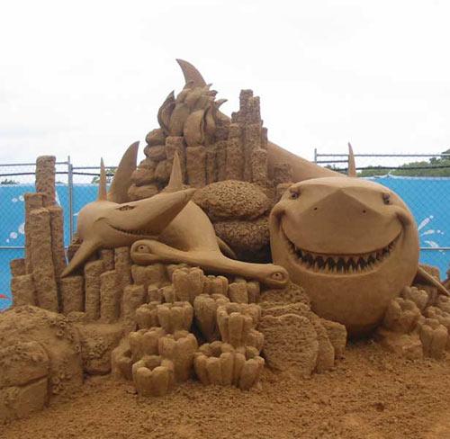 sand sculpture - shark