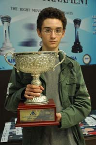 Fabiano Caruana with trophy
