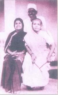 Loksundari with Kasturba Gandhi
