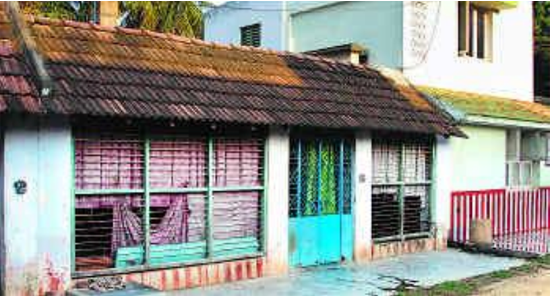 House in Thiruvanaikkaval where Raman born