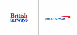 British Airways logo old vs new