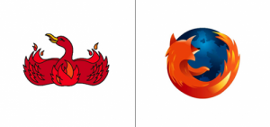 Mozilla Firefox logo old vs new