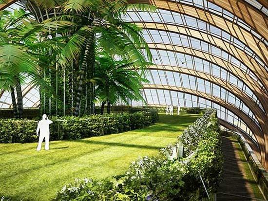 green land inside ark hotel