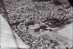 Aerial view of Jama Masjid in Delhi