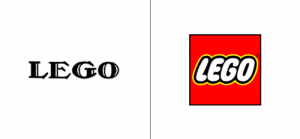 Lego logo old vs new