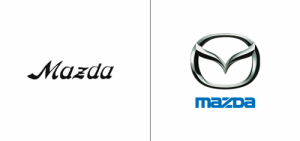 Mazda logo old vs new