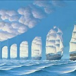illusion ships or pillars