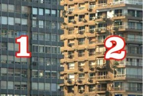 illusion – Which building is in front?