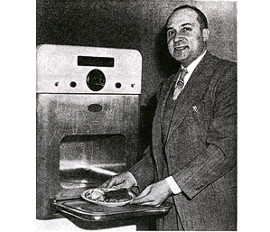 Percy Spencer with microwave